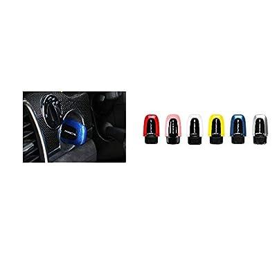 LIMBQS Start Passive Keyless Enter for Porsche Macan Cayenne Panamera Start Stop Button Stickers Entry Box Switch Cover (Blue): Automotive