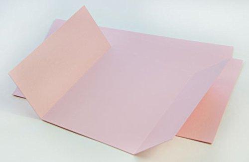 Gatefold Invitation Enclosure - 5 x 7, Metallic Rose Quartz, 25 Pack