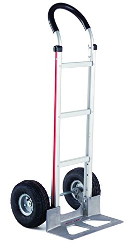 Magliner HMK119UA4 Aluminum Hand Truck, Horizontal Loop Handle with Vinyl Sleeve, 18 x 7-1/2 Aluminum Diecast Nose Plate, 500 lb Capacity by Magliner
