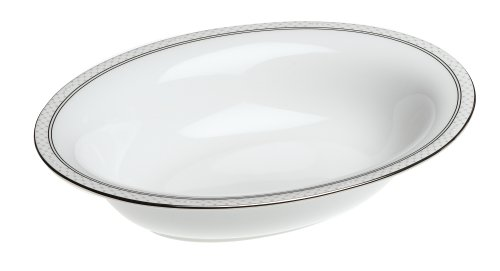 Waterford China Padova Open Vegetable (Pearl Platinum Open Vegetable Bowl)