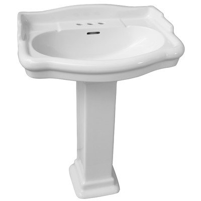 Barclay-3-868WH-Stanford-550-Vitreous-China-Pedestal-Lavatory-White