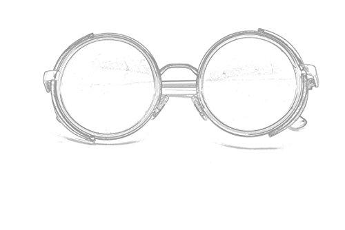 Gafas ultra gafas cobre UV400 y protección té Plata marrón oro Y Nuevo gafas leopardo azul en Vintage estampado con sol Rave redondo de 50s Gris plata de Cyber Goth Steampunk espejo rYExqY