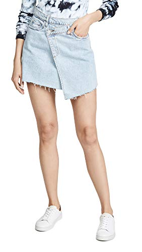 [BLANKNYC] Blank Denim Women's Acid Trip Skirt, Acid Trip, Blue, 27