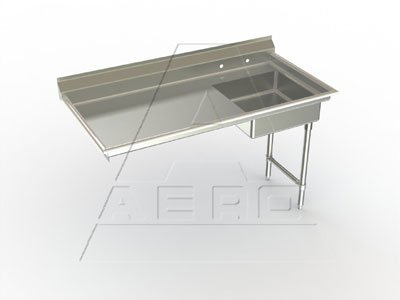 Delux Soiled Straight Undercounter Right Hand Dishtable