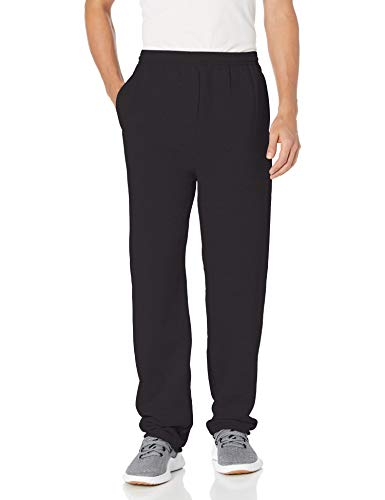 Hanes mens EcoSmart Fleece Sweatpant with Pocket black XL