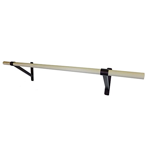 DuroBarre 6ft Complete Ballet Barre Wall Mounting Kit - Dance Stretch Bar 6 feet by DuroBarre