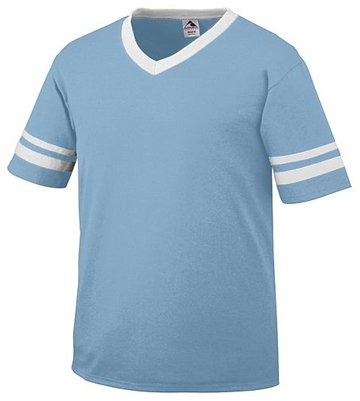 picture of Augusta Drop Ship Youth Sleeve Stripe Jersey - LIGHT BLUE/WHITE - S