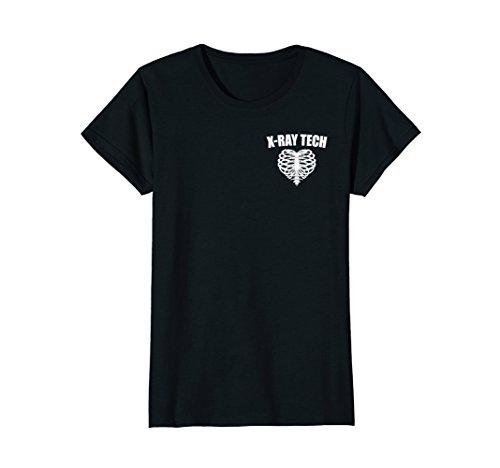 Womens X-Ray Tech Ribs Heart Love, Radiology Rad Tech RT Shirt XL Black (T-shirt X-ray Tech)