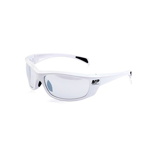 Smith & Wesson Accessories Whitehawk Full Frame Shooting Glasses Gloss White/Clear Mirrored Lens