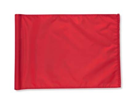 Red 400 Denier Nylon Flags from Standard Golf - Set of 9