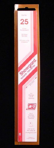 Showgard Strip Style Clear Stamp Mounts Size 25 by Showgard
