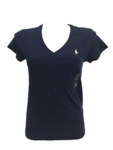Blu Manica Donna Corta T Ralph shirt Lauren qYx05wO