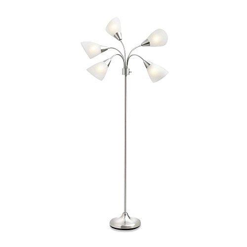 Studio 3B 5-Light Floor Lamp-Silver with CFL Bulbs