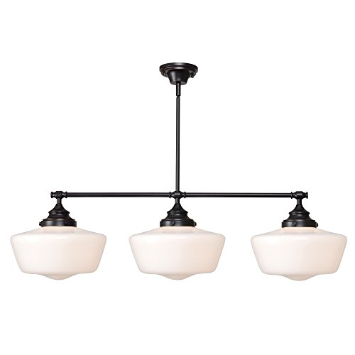 Kenroy Home 93663ORB  Cambridge 3-Light Island Light, Blackened Oil Rubbed ()