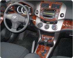 - TOYOTA RAV-4 RAV4 RAV 4 MKIII Interior BURL Wood Dash Trim KIT Set 2009 2010 2011 2012