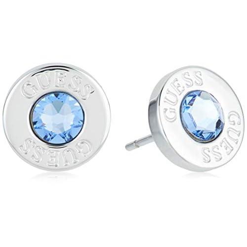 Pendientes Guess Shiny Crystals azul acero inoxidable quirúrgico chapados rodio UBE78097 [AC1150] a buen precio