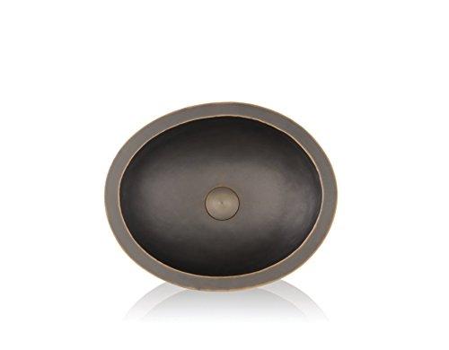 Lenova CB-123 Copper undermount Round Bathroom Sink, 19 x 16 x 16 inches, Oil-Rubbed Bronze