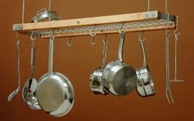 JK Adams Mini Ceiling Oval Pot Rack gray