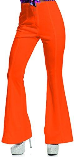 Womens Disco Pants Adult Costume Orange - Medium -