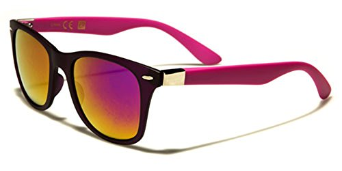 Mirror Lens Pink Sunglasses Slim Purple Size LARGE Retro Fashion Color Mirror with Color wYHgqXa