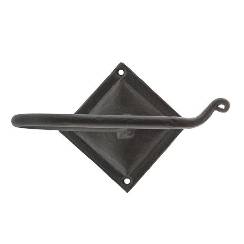 Loft Wrought Iron Toilet Paper Holder | Rod Hook Hanger Bathroom - Hand Forged Wrought Iron Hanging