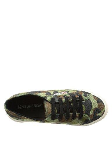 Zapatillas camuflaje con pelito Superga 2750-Sinthorse 529 Verde Verde