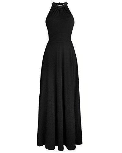 Styleword Women's Off Shoulder Elegant Maxi Long Dress(Black,XXL)