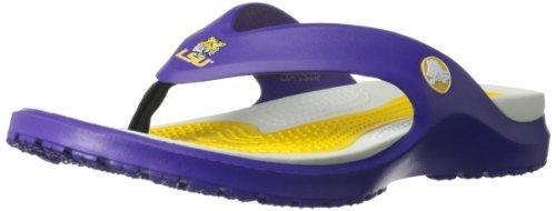 crocs Men's 15201 Modi LSU Flip Flip Flop,Ultraviolet,13 M US