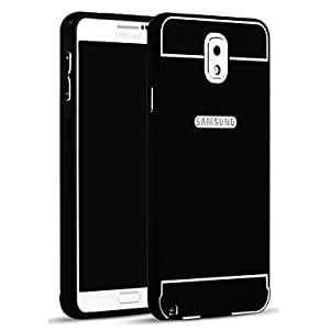 HJZ Metal Frame with Plastic Back Cases for Samsung Galaxy Note 3 (Assorted Colors) , Black