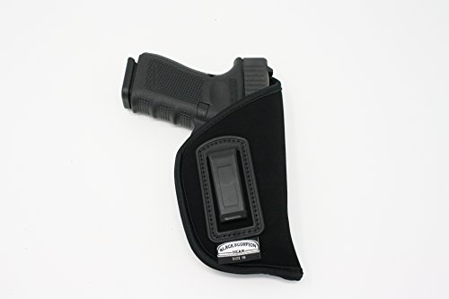 Black Scorpion BSG16N Speedy Neoprene or Nylon IWB Universal Holster Concealed Carry-Inside The Waistband-Fits all Glock 19,23,32/Sringfield Xd comp/S&W MP 9/40 comp-All Similar Handguns