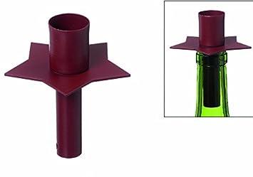 Kerzenleuchter bordeaux für flaschenhals kerzenhalter weihnachten