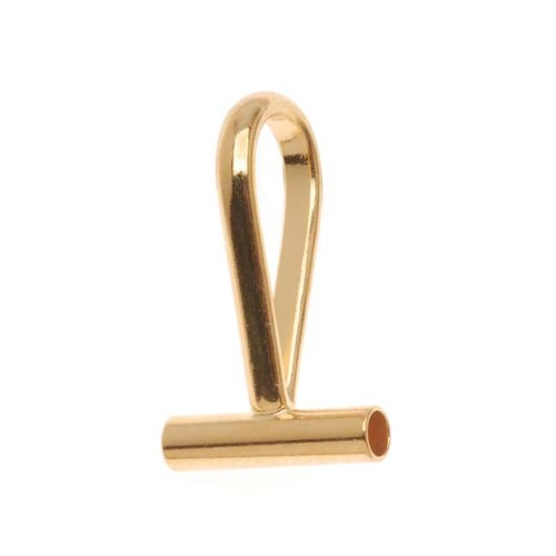 (Beadaholique PC516G Tone Horizontal Pin Brooch to a Pendant Converter, Gold)