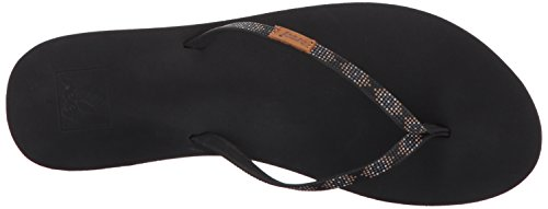 Beads Reef Women's Black Ginger Slim Sandal 1wZqA