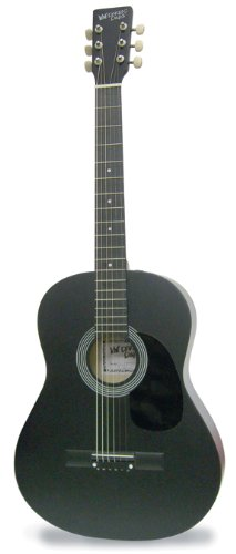 Darling Diva DDPKG12BK Acoustic Guitar, Black Voodoo