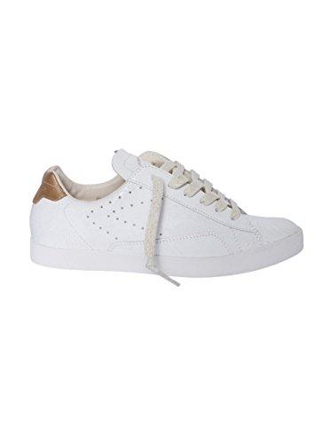 ZERO CENT CINQ Damen Sneaker Vanessa in Weiss-Gold White Gold