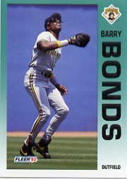 Fleer Barry Bonds - 1992 Fleer Barry Bonds Baseball Card Baseball Card #550 Barry Bonds