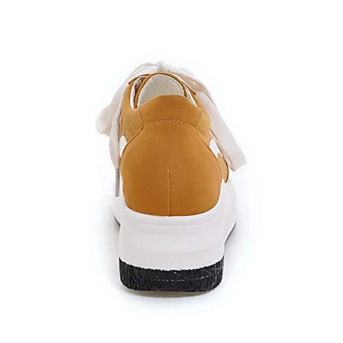 5 36 Sandales Compensées DGU00599 Jaune Femme Jaune AN x0Ygqwvq