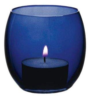 Anchor Hocking Cobalt Blue Glass Tea Light Candle Holder (Pack of 2) (Cobalt Glass Blue Anchor Hocking)