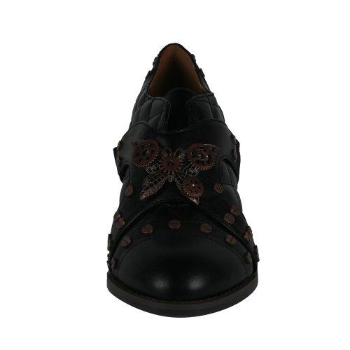 Hades Damessymbool Steampunk Oxford Schoen Zwart