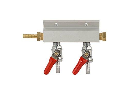 (Gas Manifold - 2 Way Aluminum (Keg King) 1/4