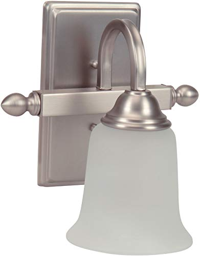 Craftmade 15209BN1-WG Madison Wall Sconce Lighting, 1-Light, 100 Watts, Brushed Satin Nickel (9