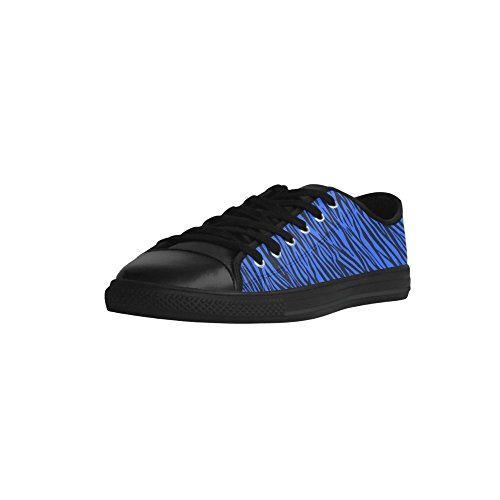 Story Blue D Model 028 Custom Shoes Leather Aquila Womens Stripes Zebra Action aHxRnxd6