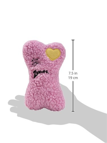 Image of Zanies Embroidered Berber Bone Dog Toys, Pink