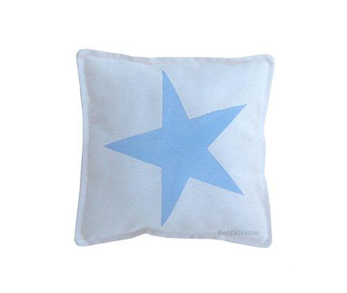Cojín estrella color azul celeste para bebe de BeccaTextile ...