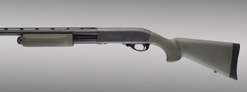 Hogue 08212 Remington 870 OverMolded Stock with Forend, Olive Drab Green - Grip Pistol Stocks Shotgun