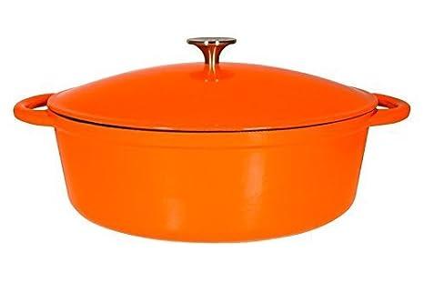 Amazon.com: Le Chef esmalte naranja Oval Hierro fundido ...