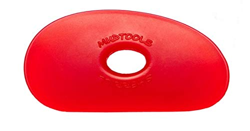 (Sherrill Mudtools Shape 1 Polymer Rib for Pottery and Clay Artists, Red Color Very Soft)