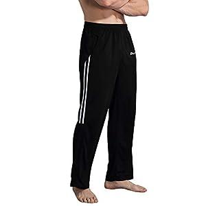 Duuluup Workout Pants Men - Quick Dry Active Sports Sweatpants Open-Hem with Pockets