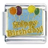 Happy Birthday Balloons Italian Charm Fits Nomination Classic