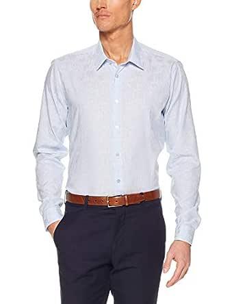 Calvin Klein Extreme Slim Fit Business Shirt, Blue Dobby STRI, 37cm Collar